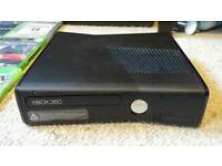 Xbox 360 250g build in wifi + 3wireless controllers, 1 wired controller + 18 games.