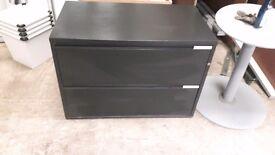 Black metal storage cabinet ideal for tool garage storage etc