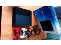 PS4 500gb with box & games