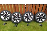 18 alloy wheels with winter tyres