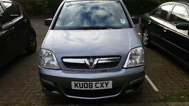 Vauxhall Meriva 2008 1.4 diesel spl edition, 59 miles with 1 year mot n FSH, reduced price 1399