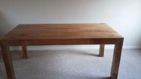 Genuine fruit wood dining table