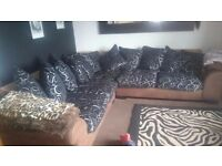 DFS corner sofa, large, will easily seat 6 people. Recently recovered. Good condition