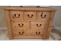 Solid Oak Plank Range - 6 Drawer Sideboard and 2 Drawer Coffee Table