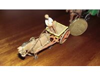 REDUCED! Vintage model diecast horse and cart collectable rare train