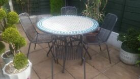 Garden Mosaic table and chairs from B&Q
