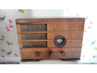 ANTIQUE PHILIPS 580A VALVE RADIO