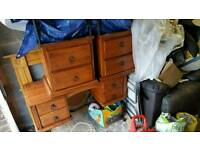 Dressing table with 2 bedside draws