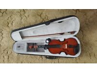 Violin with case, bow & tuner - full size
