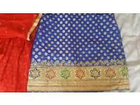 Indian suit- Blue and red