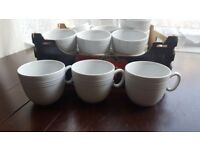 16 small white cups
