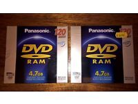 2x blank re-recordable DVD-RAM disks - unopened