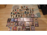 massive wwe dvd and figure wrestling bundle joblot wrestlers wwf