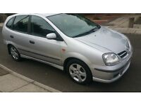ALMERA TINO DIESEL 04 REG,CHAIN DRIVEN ENGINE,EXCELLENT RUNNER,CHEAP ON FUEL, PERFECT WORK HORSE!!!!