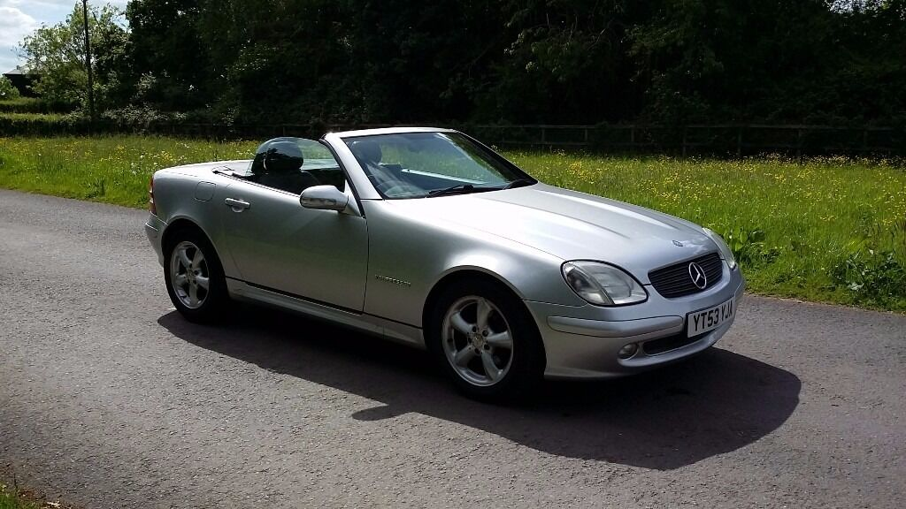 2003 mercedes slk 200 kompressor auto in silver in winterbourne bristol gumtree. Black Bedroom Furniture Sets. Home Design Ideas