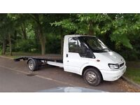 Ford transit recovery truck low miles 2005 lwb beavertail with winch