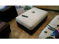 3 + 2 seater sofas with large pouffe