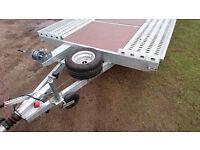 CAR TRAILER 2700 KILO 13 ft 6.5 ft tandem wheels BRAND NEW CHEAP 2016