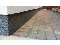 25kg bucket decorative mosaic wall render foundation insulation
