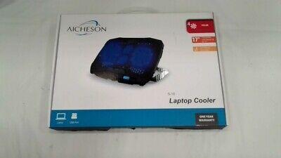 Laptop Cooling Pad Blue LED Lights 1.68LB for 10-15.6-inch