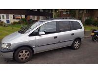 Vauxhall zafira 7 seater mot 6mths spares repairs