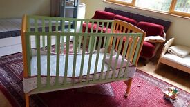Child cot and chest of drawers