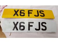 PRIVATE REG FOR SALE....X6 FJS...£524 ONO