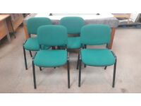 SET OF 4 STACKABLE GREEN CHAIRS