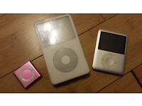 3 Faulty IPODS for spares or repair - Acton, West London - Can post too!