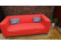 as new IKEA two seater sofa with washable cover can be flat packed.