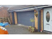 Electric garage door roller shutter