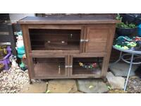 Two tier guinea pig rabbit hutch in great condition may deliver