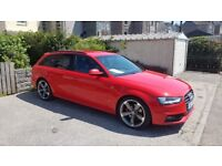 "Audi A4 avant 2.0TDi Quattro Sline Black edition Brilliant red 19"" rotor alloys Full leather st/stop"