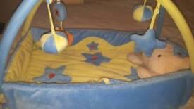 Soft Baby Activity Mat Blue Bear