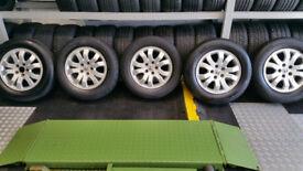 Honda Genuine 16 alloy wheels + 5 x tyres 215 65 16 Michelin Snow winter