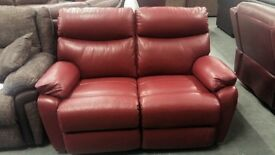 Brand New Harveys Embankment two seater electric recliner sofa in red