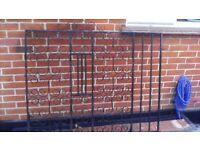 PAIR OF WROUGHT IRON DRIVE GATES