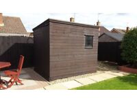 Shed in good condition. W 180cm x H 219cm x D244cm