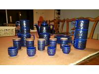 Stunning blue patterned kitchen set