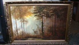 """Framed Signed Print """"Quiet Forest"""" by Gerald Coulson"""