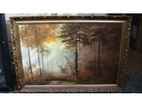 "Framed Signed Print ""Quiet Forest"" by Gerald Coulson"