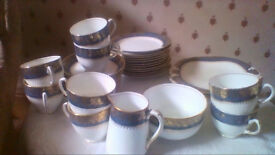 Pretty vintage china tea service in good and attractive condition 34 pieces