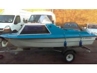 14ft CABIN CRUISER/CANAL DAY BOAT/RIVER BOAT/SEA BOAT/TRAILER/OUTBOARD
