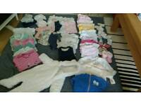 Baby girl clothes bundle 0-3m