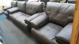 Dark brown 3+1+1 seater sofa