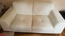 Ivory 2 Seater Leather sofa