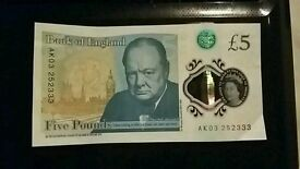 Bank of England £5 note,