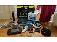 Nintendo Wii U console with Wii Fit Plus and accessories