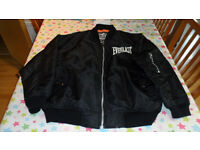 "Everlast Bomber jacket, Black, Size Medium (26"" pit to pit) Bought in New York, Great detailing!"