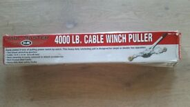 New 4000lb Cable Winch Puller